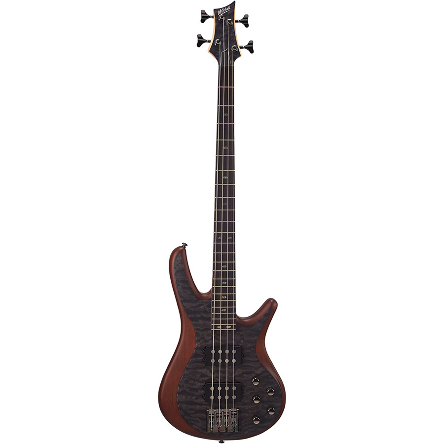FB700QBK Mitchell Electric Bass Guitar Black Quilt