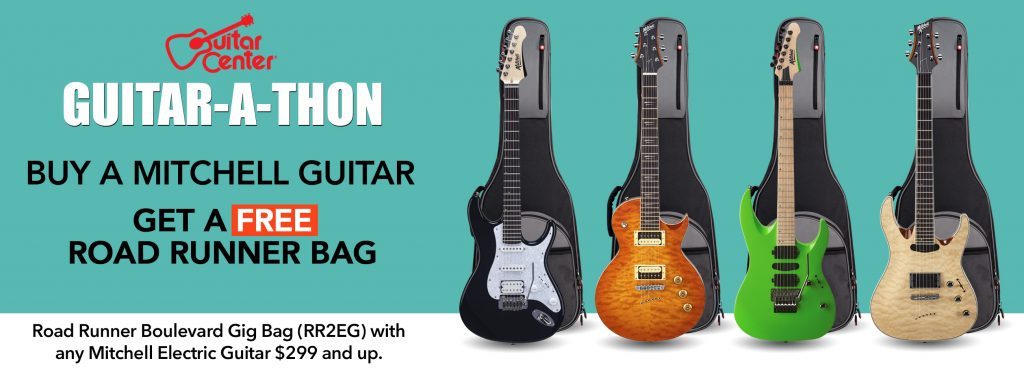 guitar center guitar a thon free road runner bag with purchase over 299 mitchell guitars. Black Bedroom Furniture Sets. Home Design Ideas