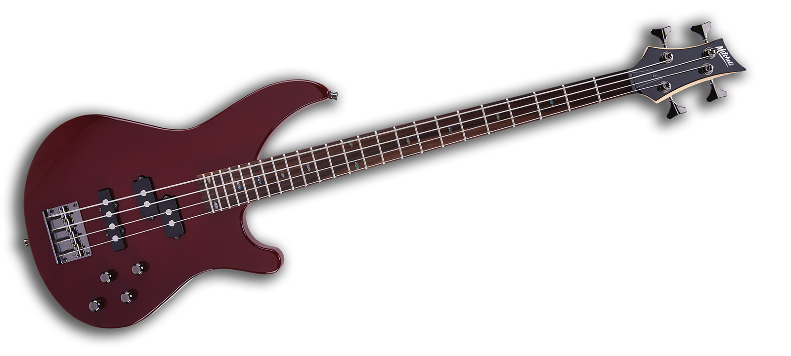 MB200BR Mitchell Electric Bass Guitar Blood Red