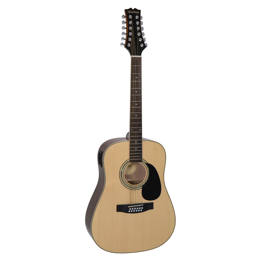 Mitchell D120S12E Dreadnought Solid-Top 12-String Acoustic-Electric Guitar
