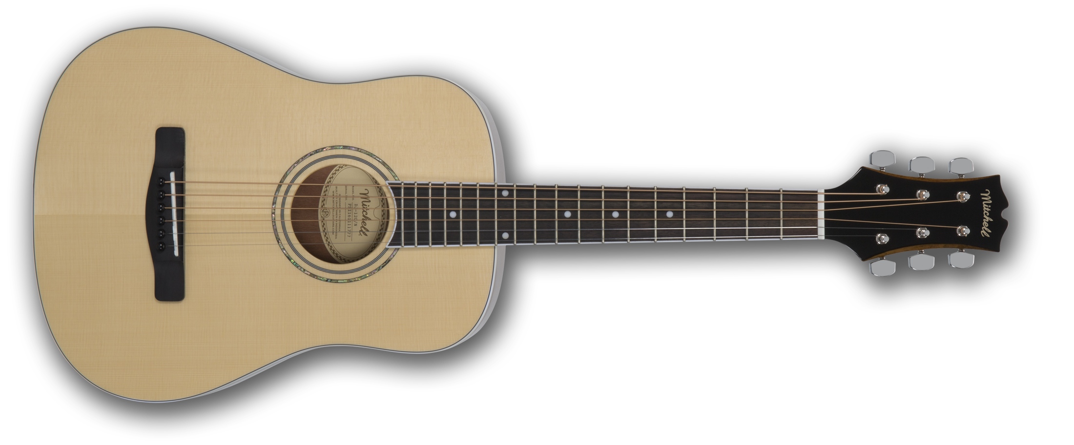 Mitchell DJ120 Mini-Dreadnought Solid-Top Spruce Acoustic Guitar