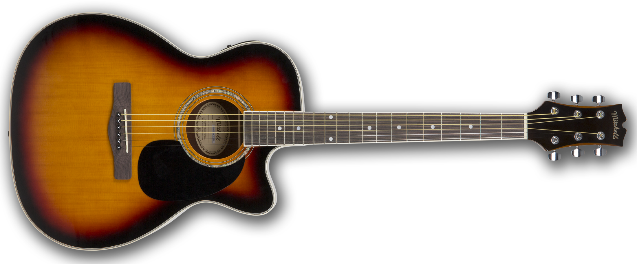 Mitchell O120CESB Cutaway Acoustic-Electric Guitar