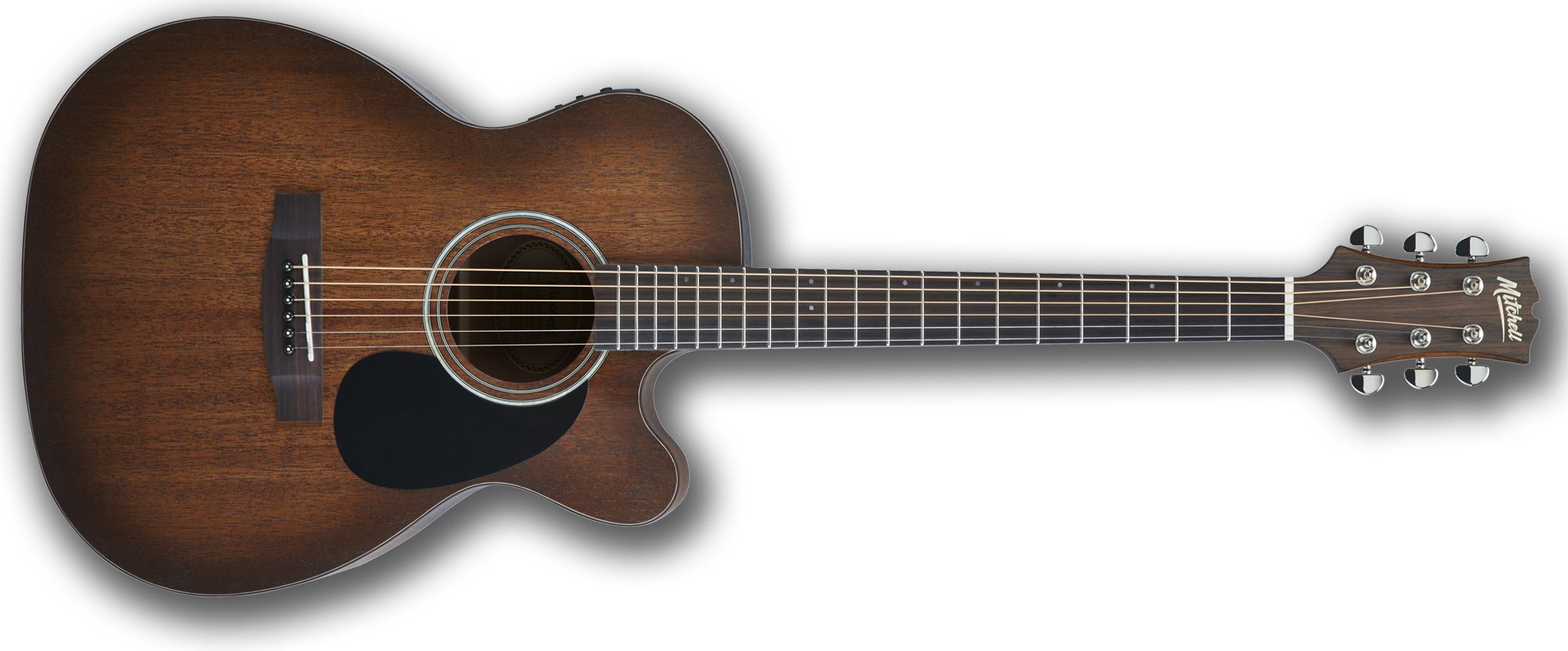 Mitchell T333CE-BST Auditorium-Size Cutaway Acoustic-Electric Guitar Terra Series