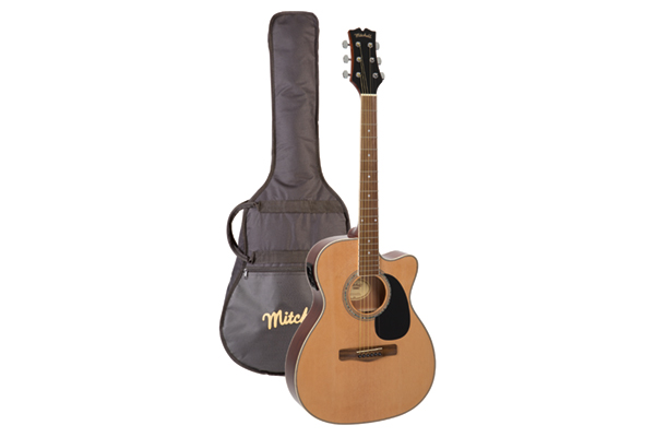 Mitchell O120PKE Guitar and Bag