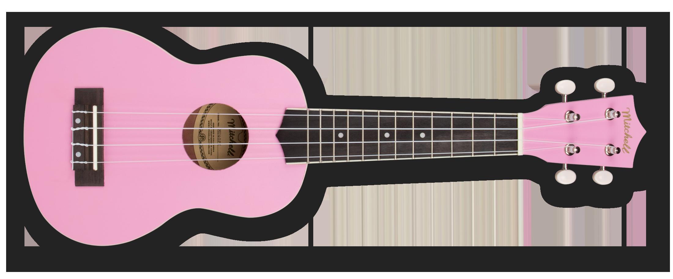 Mitchell MU40PI Soprano Ukulele Pink
