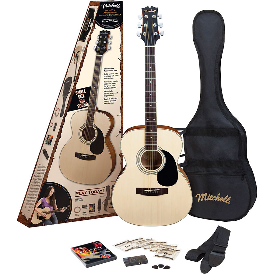 Mitchell MO100SPK Acoustic Guitar Starter Pack