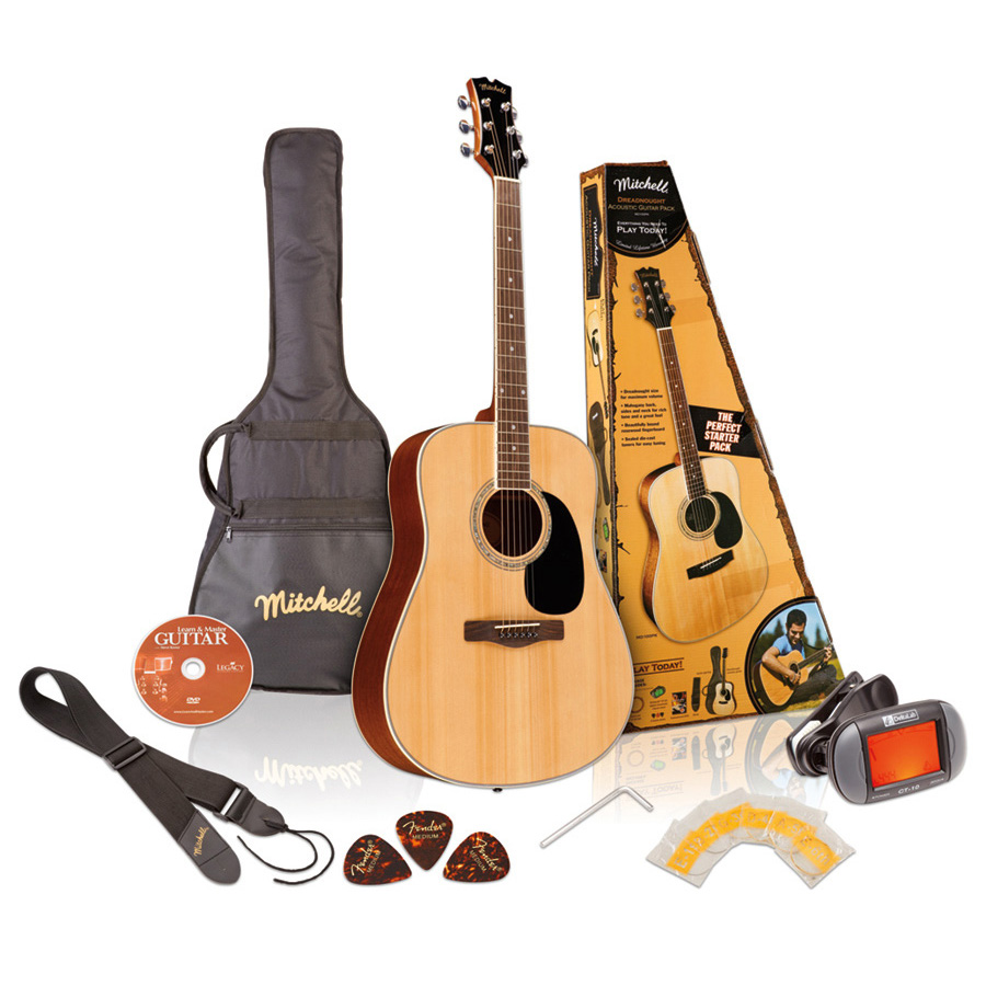 Mitchell D120PK Guitar Pack