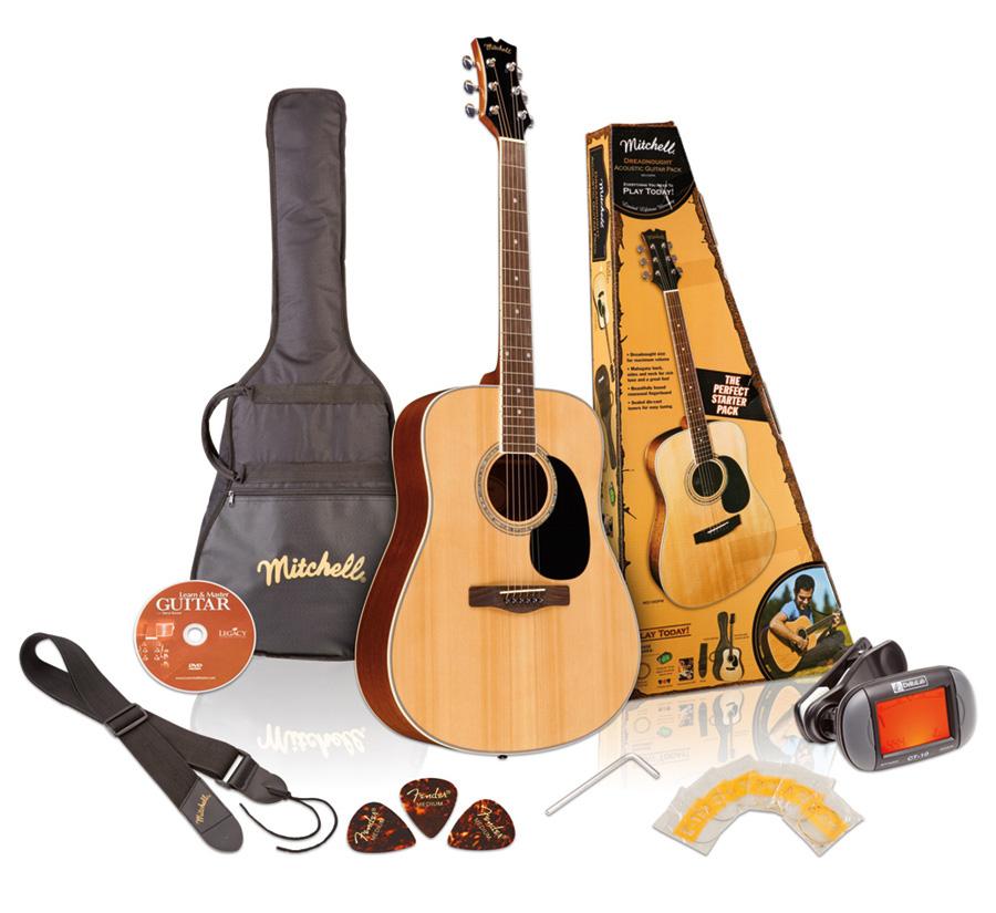 Mitchell D120PK Guitar Pack