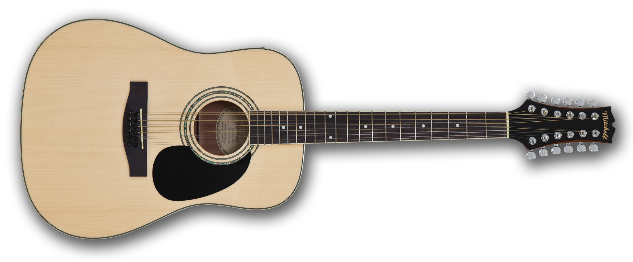 Mitchell MD100S12E 12-String Dreadnought Acoustic-Electric Guitar