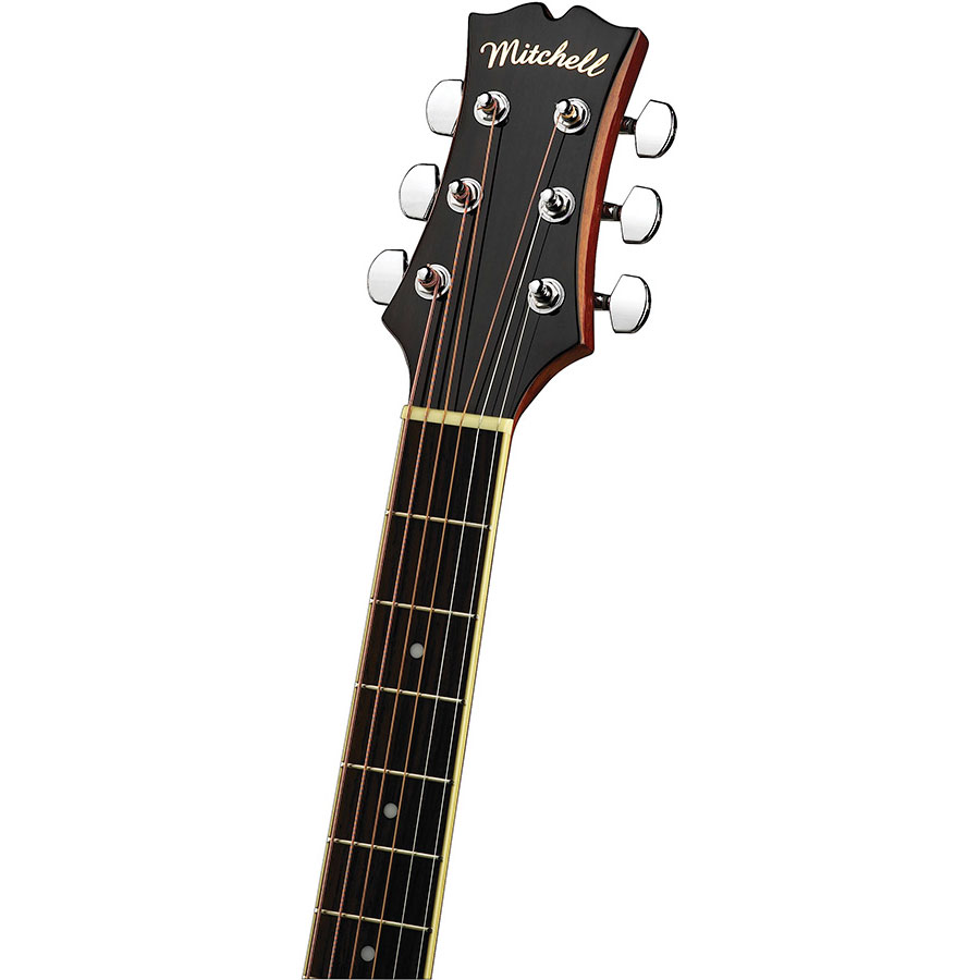 Mitchell-MO100SPK-Neck-and-Headstock-detail
