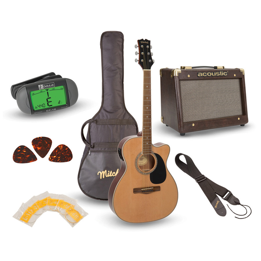 Mitchell O120PKE Guitar Pack