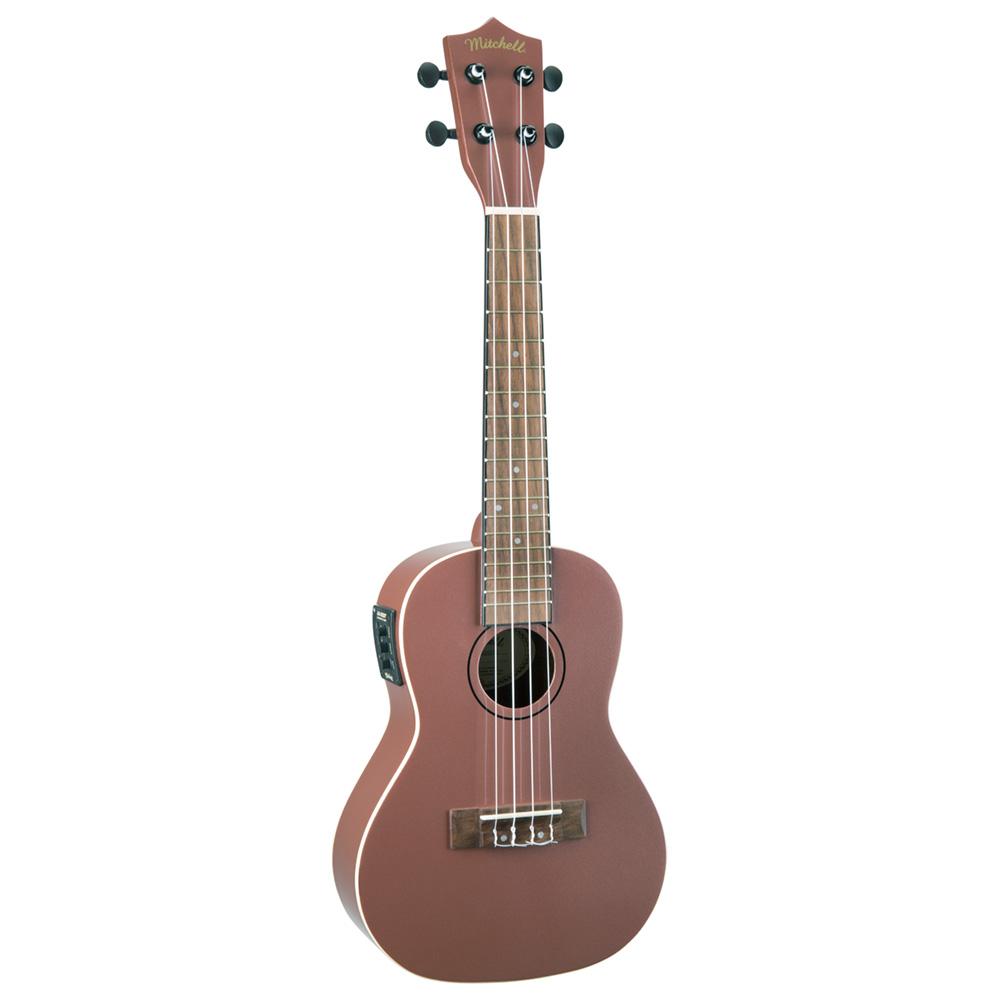mitchell mu50serg acoustic electric concert ukulele w rose gold finish. Black Bedroom Furniture Sets. Home Design Ideas