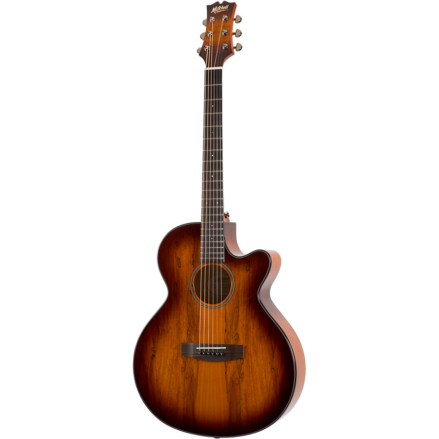 Mitchell MX430SM-WKY Grand Auditorium Acoustic-Electric Guitar in Spalted Maple