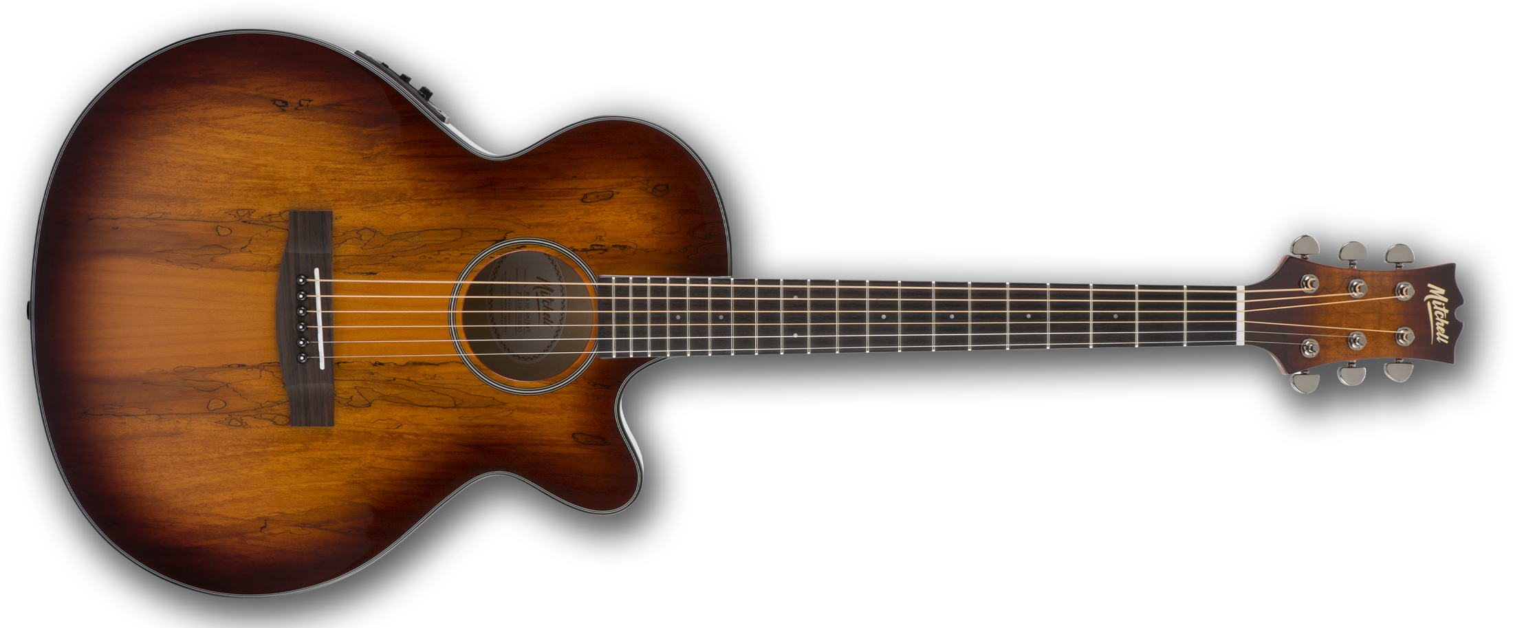 Mitchell MX430SM Grand Auditorium Acoustic-Electric Guitar in Spalted Maple