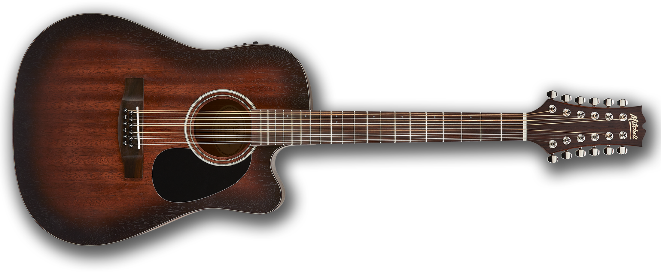 Mitchell T331TCE 12-String Dreadnought Acoustic Guitar Terra Series