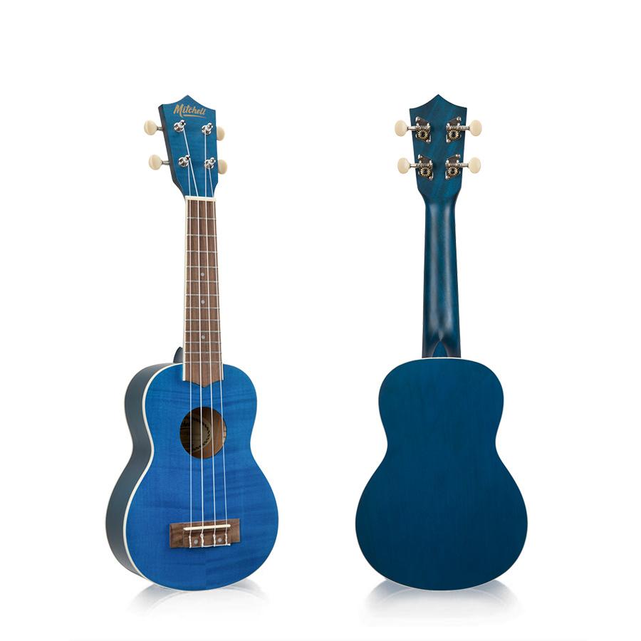 Mitchell MU45FBL Soprano Ukulele Blue