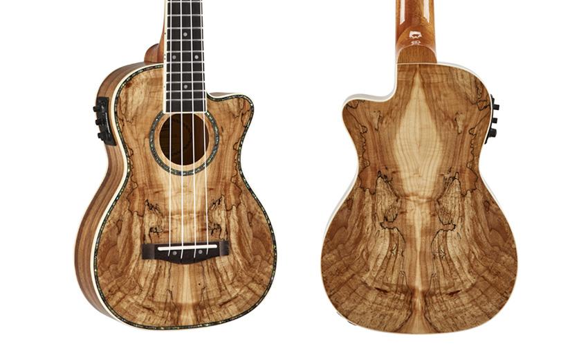Mitchell MU80XCE Quilted Maple Natural Ukulele