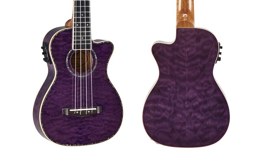 Mitchell MU80XCE Quilted Maple Purple Ukulele