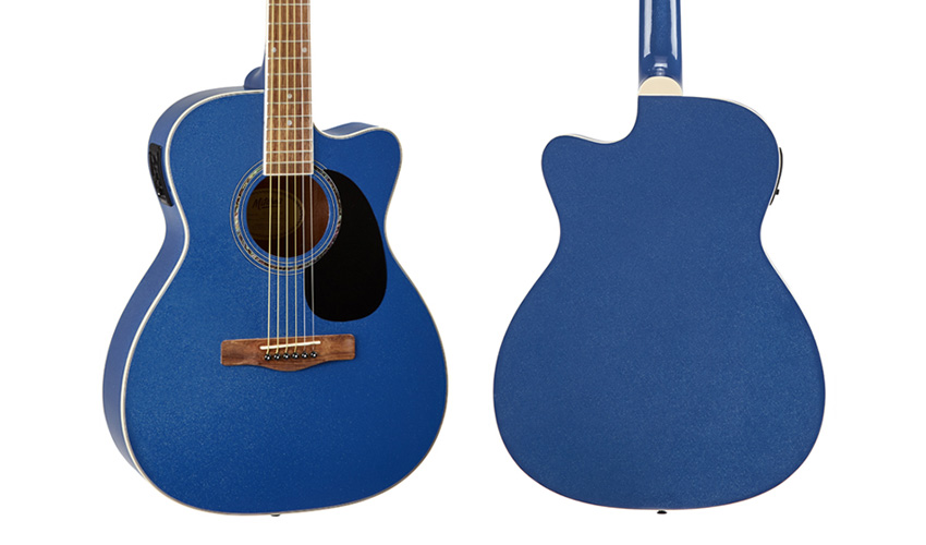 Mitchell O120CEBM Blue Metallic Orchestra Style Acoustic-Electric Guitar