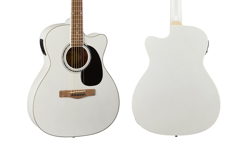 Mitchell O120CEWPM White Pearl Metallic Orchestra Style Acoustic-Electric Guitar