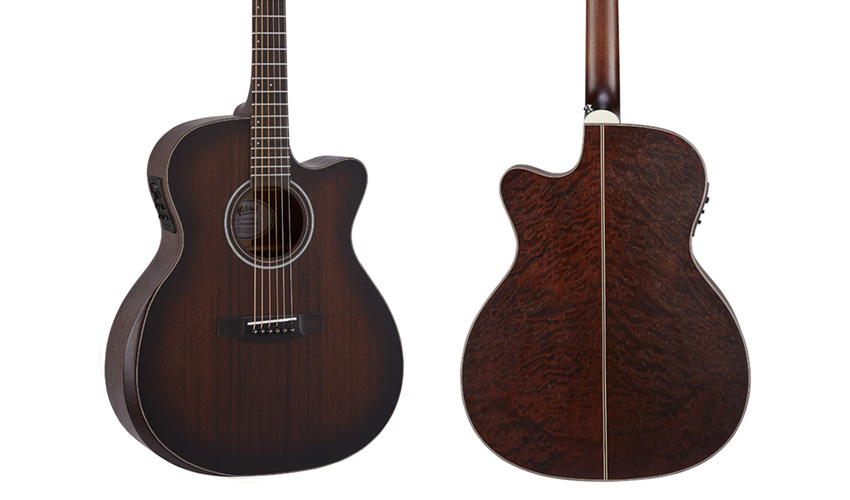 Mitchell T433CE-BST Auditorium Acoustic-Electric Guitar w/Solid Striped Mahogany Top