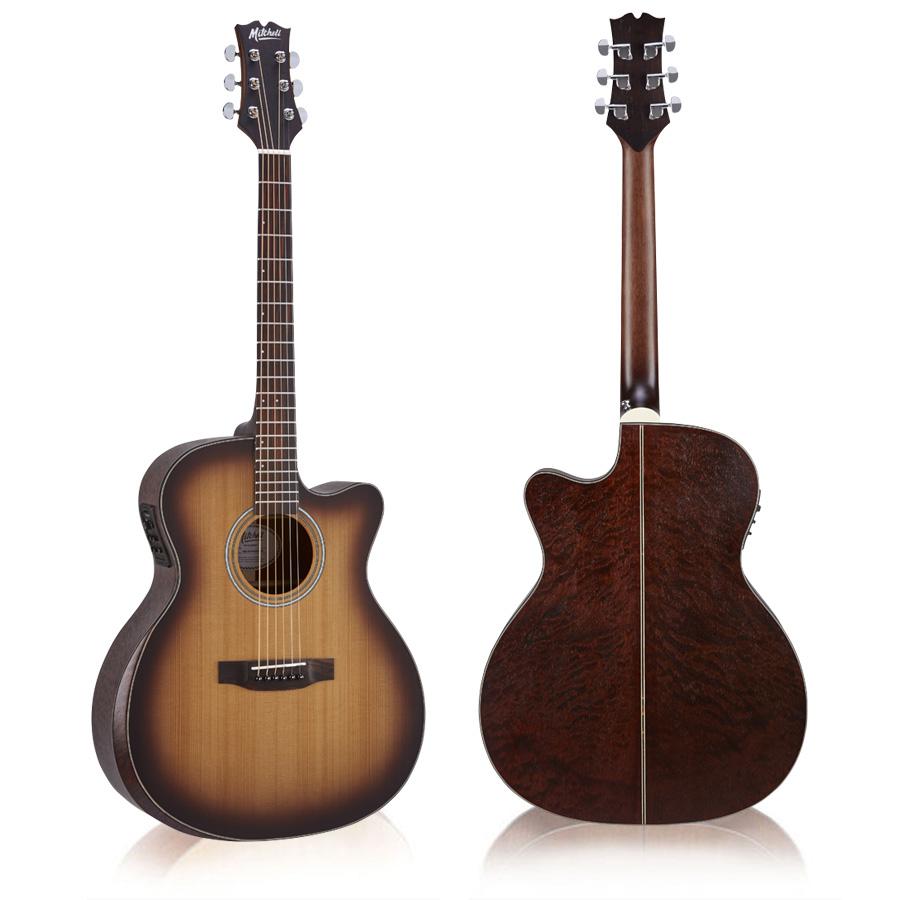 Mitchell T413CE-BST Auditorium Acoustic Electric Guitar