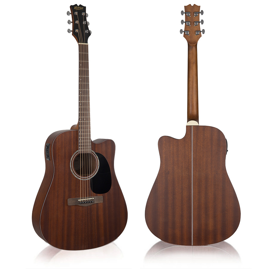 Mitchell T231CE Solid Mahogany Top Acoustic-Electric Guitar
