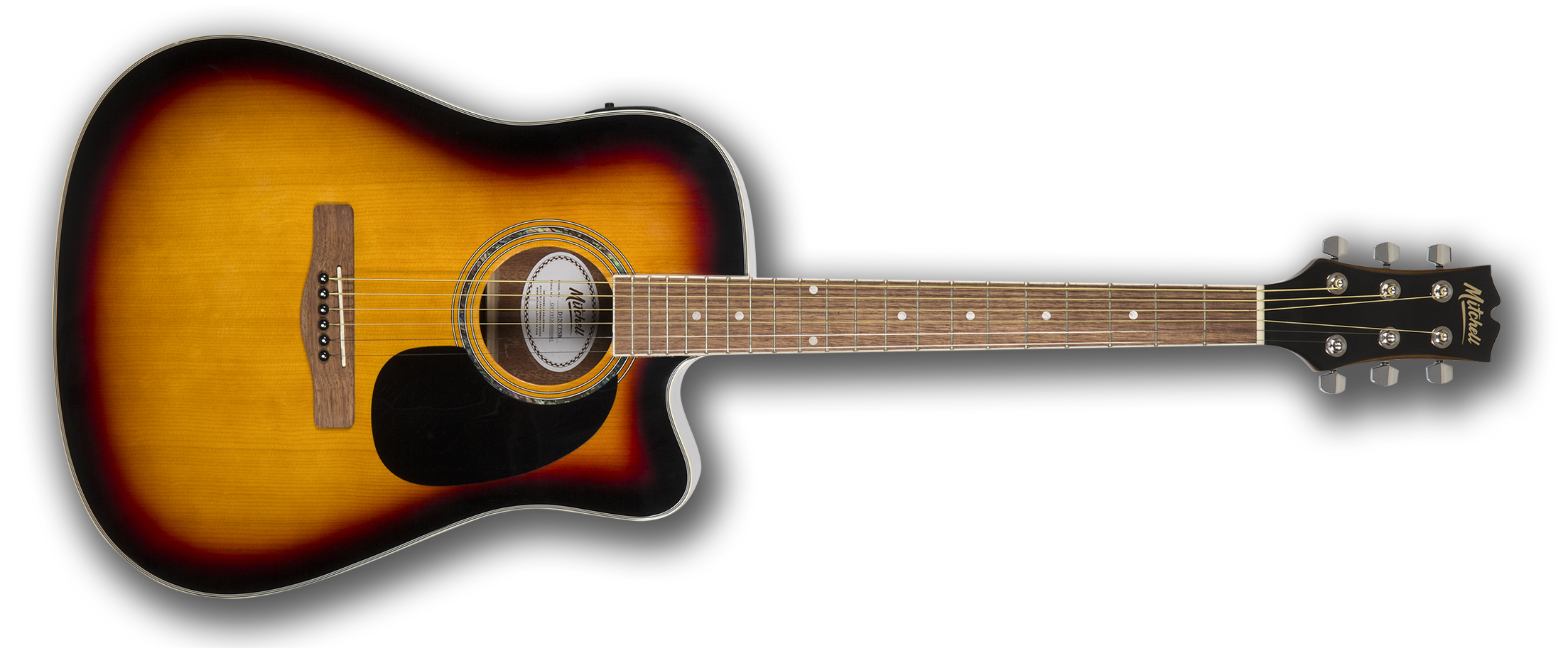 Mitchell D120CESB Dreadnought Acoustic-Electric Cutaway Guitar